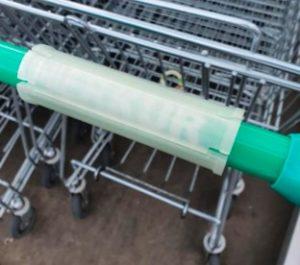 Cubierta para tapar la empuñadura del carro de la compra