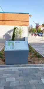 Detalle de plano del parque situado en acceso sur